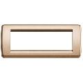Rama ornament Rondo 6 module bronz metalizat Vimar Idea