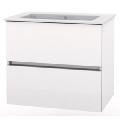 Mobilier de baie cu lavoar Cube cu sertare alb 550x430