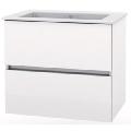 Mobilier de baie cu lavoar Cube cu sertare alb 650x430