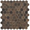 Mozaic hexagonal maro Royal Dark Hex 35x35 mm