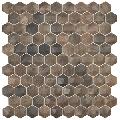 Mozaic hexagonal maro Royal Dark/D Hex 35x35 mm