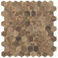 Mozaic hexagonal maro Royal Light Hex 35x35 mm