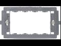 SUPORT APARAT 6 MODULE (158mm), NEGRU  3206 STIL