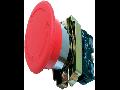 Buton ciuperca 40mm RET+SAG. (cap buton+ etrier+contact+1ND), rosu