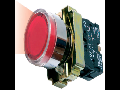 Buton de comanda  luminos, revenire cu led (cap+ etrier+modul lampa+ led+1ND), verde, RI 5