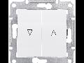 Intrerupator cu revenire cu interblocare mecanica 10 AX SEDNA SCHNEIDER alb