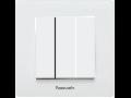 Intrerupator triplu Karre Plus Panasonic alb