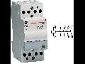 contactor modular Contax, 24A, 12V, CA/CC, 2 module, 4ND, Alb