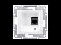 Priza de date fara suruburi RJ45 cat. 5e, UTP,  SEDNA SCHNEIDER,  aluminiu