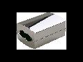 Accesoriu EASYTEC II cupla longitudinala izolata ,crom