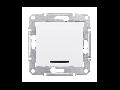 Intrerupator cap scara cu LED 10 AX SEDNA SCHNEIDER aluminiu
