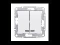 Intrerupator bipolar cu LED 10 AX SEDNA SCHNEIDER aluminiu