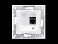 Priza de date fara suruburi RJ45 cat. 5e, STP,  SEDNA SCHNEIDER,  aluminiu