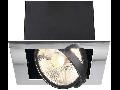 Spot AIXLIGHT FLAT I,G53,crom/negru