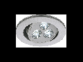 Spot TRITON 3 LED,gri,lumina rece