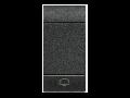Tasta cu 1 functiune, pentru intrerupator basculant, cu  difuzor si pictograma ,,clopotel,, living light, 1 modul, antracit, BTICINO