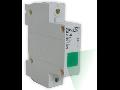 Lampa de semnalizare cu montare pe sina DIN-NEON, culoare verde