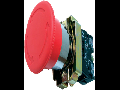 Buton ciuperca 40mm  RET+SAG. (cap buton+ etrier+contact+1NI), rosu