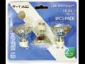 LED Spotlight - 4W GU10 cupa sticla alb cald / blistere 3 piese VT-1843
