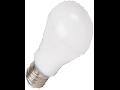 Bec cu LED-uri - 7W E27 A60 termoplastic alb cald, VT-1828