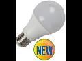 Bec cu LED-uri - 9W E27 A60 radiator aluminiu, lumina alb rece