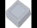 Spot LED de suprafata patrat alb cald  - 8W, W/O driver, VT-1408 SQ