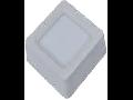 Spot LED de suprafata  patrat alb - 15W, W/O driver, VT-1415 RD