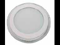 Panel LED spot din sticla, rotund alb - 18W, VT- 1802 G