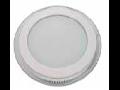 Panel LED spot din sticla, rotund alb cald- 18W, VT- 1802 G