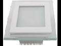 Panel LED spot din sticla, patrat  alb - 12W, VT- 1202 G