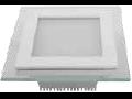 Panel LED spot din sticla, patrat  alb cald - 18W, VT- 1802 G