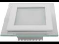 Panel LED spot din sticla, patrat cu schimbare  de culoare  3000K / 4500 K / 6000 K- 6W, VT-604G-RD