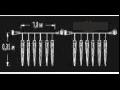 Stalactite ext. 108 LED Alb Rece cu Cablu Negru 1.8x0.35m