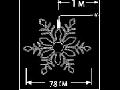 Fulg ext. 324 LED Alb Rece cu Cablu Negru 1m D:0.78m
