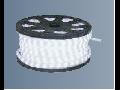 Tub flexibil luminos Rosu cu leduri 2 circuite, �=12mm