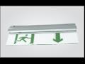 Corp de iluminat cu LED pentru siguranta cu kit emergenta, autonomie 1,5 h, montaj suspendat, 4,5W
