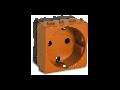 Priza schuko  2P+T, 16A, portocalie