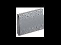 Tasta intrerupator, simpla, 3 module, argintie
