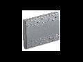 Tasta intrerupator, simpla, 3 module, cu iluminat, argintie