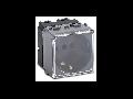 Priza schuko  P30 2P+T, 16A, IP40 cu capac, 2 module, argintie