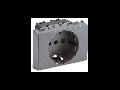 Priza schuko  P30 2P+T, 16A, 3 module, argintie