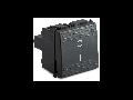 Intrerupator 2P 16AX 250V~, 2 module, gri