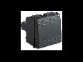 Intrerupator cap cruce 1P 16AX 250V~, 2 module, gri