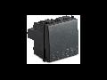 Buton 2 module, 1P NA 16A 250V~, gri