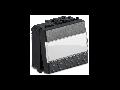 Buton tip ecuson 2 module, 1P NA 16A 250V~, gri