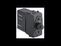 Dimmer  pentru sarcina inductiva cu buton comutator, compatibil cu filtru RFI, 100-500W/230V~ AC, gri
