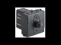 Dimmer  pentru sarcina inductiva, 2 module, cu buton comutator, compatibile cu filtru RFI, 100-500W/230V~ AC, gri