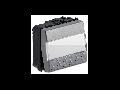 Buton tip ecuson 2 module, 1P NA 16A 250V~, argintiu