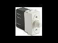 Dimmer pentru sarcina inductiva cu buton comutator, compatibil cu filtru RFI, 100-500W/230V~ AC, alb