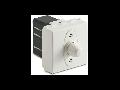 Dimmer pentru sarcina inductiva, 2 module, cu buton comutator, compatibile cu filtru RFI, 100-500W/230V~ AC, alb